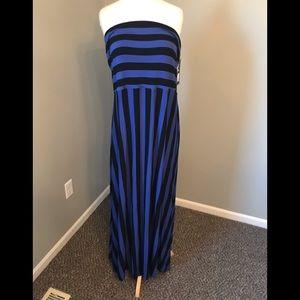 Mossimo Target blue violet stripe maxi dress XXL